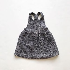 ZARA gray thick pinafore/ dress jumper EUC 18-24m